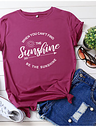 cheap -ladies t-shirt summer short-sleeved round neck casual tops loose cotton tops basic tops shirt (ga, m)