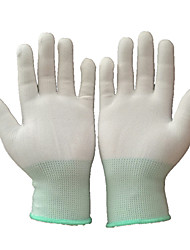 cheap -6 Pairs Garden Gloves Cotton Gardening Gloves Construction Wood Working Hand Gloves Household One Size White