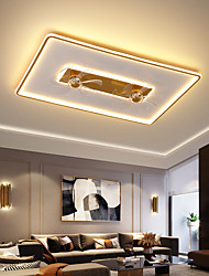 cheap -LED Ceiling Fan Light Rectangle Design Black Gold 90cm Dimmable Aluminum Artistic Style Vintage Style Modern Style Painted Finishes Living Room Dining Room Bedroom 220-240V 110-120V
