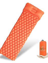 cheap -Inflatable Sleeping Pad Camping Pad Air Pad with Pillow Outdoor Camping Portable Ultra Light (UL) Moistureproof Anti-tear TPU Nylon 160*60 cm for 1 person Fishing Beach Camping / Hiking / Caving