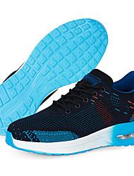 cheap -Steel Toe Cap Safety Shoe Sports Flyknit Air Cushion Sneakers Slip Resistant Work shoes Men Women Black Blue