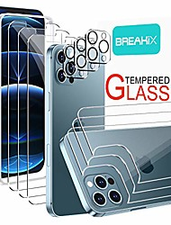 cheap -[3+3+3 pack] breakix screen protector compatible with iphone 12 pro max (6.7 inch), front + back screen protector + camera lens protector tempered glass 9h hd [installation frame] [precise cutout]