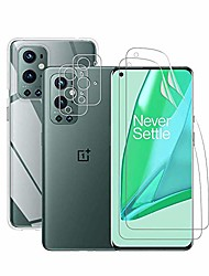 cheap -Phone Screen Protector For One Plus OnePlus 9 OnePlus 8 Pro OnePlus 8 OnePlus 7T Oneplus 7 Hydrogel Film 4 pcs High Definition (HD) Ultra Thin Scratch Proof Front & Camera Lens Protector Phone