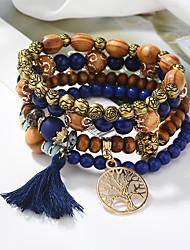 cheap -european and american brand tassel multi-layer bracelet cross-border jewelry handmade turquoise tree wild temperament bracelet s005