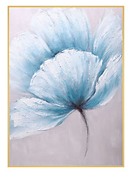 cheap -Oil Painting Handmade Hand Painted Wall Art Modern Blue Flowers Abstract Home Decoration Decor Rolled Canvas No Frame Unstretched