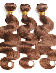cheap -Ishow 4 Bundles Human Hair Weaves Brazil Real Smooth Hair Curtain 4 Pieces Combination Outfit Pure 4# Color Straight Set 10-24 Inch Hair Extensions