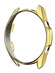 cheap -soft tpu case compatible with samsung galaxy watch 3 41/45mm,ultra-slim vacuum plating case for galaxy watch 3 (gold, 45mm)