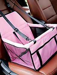 cheap -dog car seat portable pet car booster back seat cover breathable waterproof travel carrier cage with adjustable safety seat belt folding doggie cat small animal transport bag basket for car truck suv