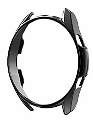 cheap -soft tpu case compatible with samsung galaxy watch 3 41/45mm,ultra-slim vacuum plating case for galaxy watch 3 (black, 41mm)