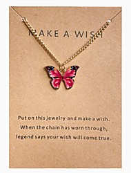 cheap -Butterfly Choker Necklace Pendant Necklace Retro Butterfly Simple Fashion European Sweet Alloy Rose Red 30-40 cm Necklace Jewelry 1pc For Party Evening Street Prom Birthday Party Festival