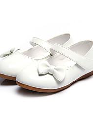 cheap -Girls' Flats Comfort School Shoes Halloween PU Little Kids(4-7ys) Daily White Black Red Fall Spring