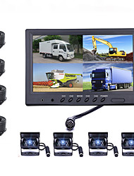 cheap -9 inch car hd monitor truck reversing image lcd color screen 12-24 volt universal dvd small tv