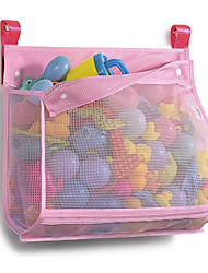 cheap -Mesh Bath Toy Organizer, ( 1 Large, Pink) Bathtub Storage Bag, Multi-Purpose Baby Toys Net, Toddler Shower Caddy for Bathroom, Quick Drying Kids Toy Holder