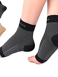 cheap -plantar fasciitis socks arch ankle support, 20-30 mmhg foot compression sleeves eases swelling, heel spurs, improves blood circulation, better than night splint for hiking, runnning by (1 pair)