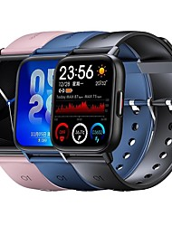 cheap -QS16Pro Smartwatch for Android iOS Bluetooth 1.69 inch Screen Size IP 67 Waterproof Level Waterproof Heart Rate Monitor Blood Pressure Measurement Sports Smart ECGPPG Timer Pedometer Call Reminder