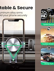 cheap -UGREEN Phone Holder Stand Mount Car Car Holder Gravity Type Silicone Aluminum Alloy Phone Accessory iPhone 12 11 Pro Xs Xs Max Xr X 8 Samsung Glaxy S21 S20 Note20