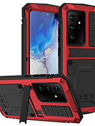 cheap -Military Heavy Duty Aluminum Metal Phone Case For Samsung Galaxy S21 Ultra S21 Plus S20 Plus S20 Ultra  Note 20 Ultra A32 5G Built-in Screen Protector Stand Full Body Waterproof Shockproof Cover