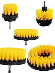 cheap -5pcs 2/3.5//4/5 Inch Electric Scourer Brush Plastic Round Cleaning Brush Kit For Glass Carpets Car Tires Nylon Brushes