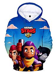 cheap -Kids Boys' Anime Casual Hoodies Sweatshirts  W6500 W6501 W6502