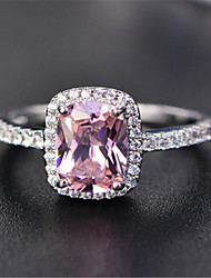 cheap -Ring Crystal Purple Blue Pink 18K Gold Plated Stylish Luxury Elegant 1pc 6 7 8 9 / Women's / Party / Wedding / Gift / Daily