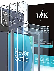 cheap -Phone Screen Protector For One Plus OnePlus 9 OnePlus 9 Pro OnePlus 9R Tempered Glass 2 pcs High Definition (HD) Scratch Proof Front & Camera Lens Protector Phone Accessory