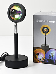 cheap -Table Lamp Ambient Lamps / Decorative Artistic USB Powered For Girls Room / Shops / Cafes Aluminum <5V Black