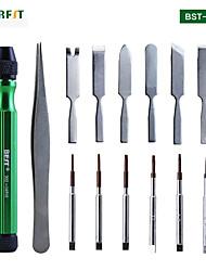 cheap -BST-302 14 in 1 Multi Repairing Tool Box Opening Tools Kit for iPhone mobile Phones Screwdriver Full Set