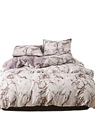 cheap -Duvet Cover Queen Coffee Color  Duvet Cover Set with Soft and Warm 100% Washed Microfiber Also as Marble Comforter Cover or Quilt Cover 3 Piece Bedding Set with Zipper