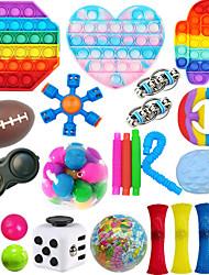 cheap -25Pcs Sensory Fidget Toys PackStress & Anxiety Relief Tools Bundle Figetget Toys Set for Kids AdultsAutistic ADHD ToysStress Balls Fidget Spinner Marble Mesh Puzzle Ball Pop Tube Fidget Box