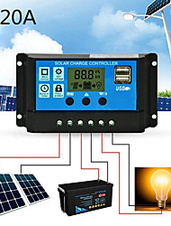 cheap -Solar Charge Controller for Lead-Acid Batteries with LCD and Auto Output Regulator 20A 12V 24V Solar Charge Controller not for Lithium