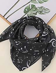 cheap -Women's Square Scarf Party Black and White Scarf Print