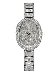 cheap -Missfox quartz watch, waterproof alloy diamond-studded high-end casual women's steel band watch