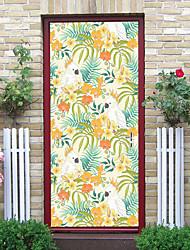 "cheap -2pcs Self-adhesive Creative Door Decals Weiniao Living Room Diy Decorative Home Waterproof Wall Stickers 30.3""x78.7""(77x200cm), 2 PCS Set"