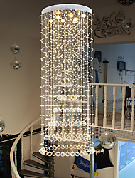 cheap -Crystal Chandelier LED Pendant Light Modern K9 Large Round Living Room Ceiling Lighting Fixture 180cm for Staircase Stair Lamp Showcase Bedroom Hotel Hall