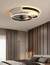 cheap -LED Ceiling Fan Light Black Gold Modern 50cm Circle Design Ceiling Fan Aluminum Artistic Style Vintage Style Classic Painted Finishes 220-240V 110-120V