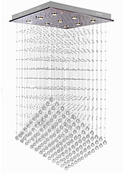 cheap -Crystal Chandelier Modern Staircase Luxury Spiral Design 9 Heads 110cm Hall Lighting Fixture Living Dining Room Suspension Wire Cristal Pendant Lights Lamp Loft 110-240V
