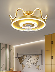 cheap -LED Ceiling Fan Light Gold Crown Design 46 cm Dimmable Ceiling Fan Aluminum Artistic Style Vintage Style Modern Style Painted Finishes LED Nordic Style 220-240V 110-120V