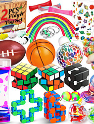 cheap -42 Pcs Sensory Fidget Toys Pack, Stress Relief & Anxiety Relief Tools Bundle Figetget Toys Set for Kids Adults, Autistic ADHD Toys, Stress Balls Infinity Cube Marble Mesh Wacky Track Fidgets Box