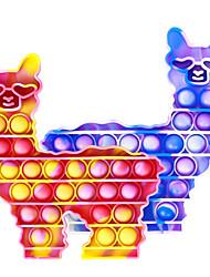 cheap -Hoofun Silicone Llama POP Sensory Fidget Bubble Toy Alpaca Sensory Toys for Exercising Children's Attention & Reaction Speed-2 Pack