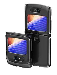 cheap -Electroplating Transparent Folding Phone Case For Motorola Razr 5G Shockproof Dustproof Back Cover