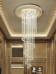 cheap -LED Crystal Chandeliers Lighting Fixtures Modern 200cm Dining Room Stairs Chandelier pendant Lights Lamps Indoor Home Decoration Lamp Fixture 110-240V