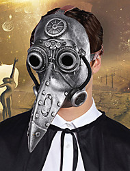 cheap -Plague Doctor Adults' Men's Halloween Halloween Halloween Carnival Festival / Holiday Other Material Silver Men's Easy Carnival Costumes Lolita / Mask