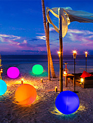 cheap -Outdoor Light Waterproof RGB LED Solar Powered 1pc 2pcs Play Ball for Swimming Pool Floating Ball Lamp RGB Home Garden KTV Bar Wedding Party Decorative Holiday Summer Lighting IP68