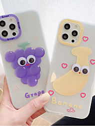 cheap -Phone Case For Apple Back Cover iPhone 12 Pro Max 11 SE 2020 X XR XS Max 8 7 Shockproof Dustproof Food Graphic TPU