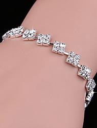 cheap -Women's Bracelet Geometrical Heart Stylish Simple Alloy Bracelet Jewelry Silver For Daily Promise