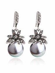 cheap -imitation pearl drop earrings natural stone round bead dangle earrings for women fashion jewelry gift¡ (i:silver)