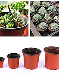 cheap -10pcs Flower Plastic Grow Box Fall Resistant Tray for Home Garden Plant Pot Nursery Transplant Flower Pots
