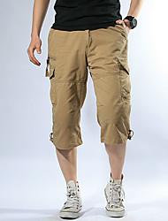 cheap -Men's Cargo Shorts Comfort Outdoor Tactical Cargo Plus Size Cotton Loose Pants Solid Color Calf-Length ArmyGreen Khaki Camouflage Gray Black Dark Gray / Summer