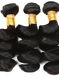cheap -Ishow 3 Bundles Human Hair Weaves Peru Virgin Wig 3 Pieces Of Combination Outfit 100% Human 8A Smooth Hair Loose Wave Hair Curtain Popular Style Hair Extensions 8-28 Inch