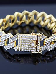 cheap -Cuban Chain Bracelet Hip Hop Bracelet Birthday Casual / Sporty Alloy Bracelet Jewelry Silver For Gift Birthday